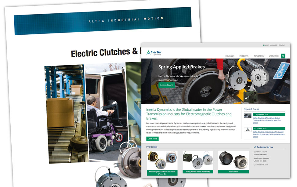 Inertia Dynamics Website and Catalog