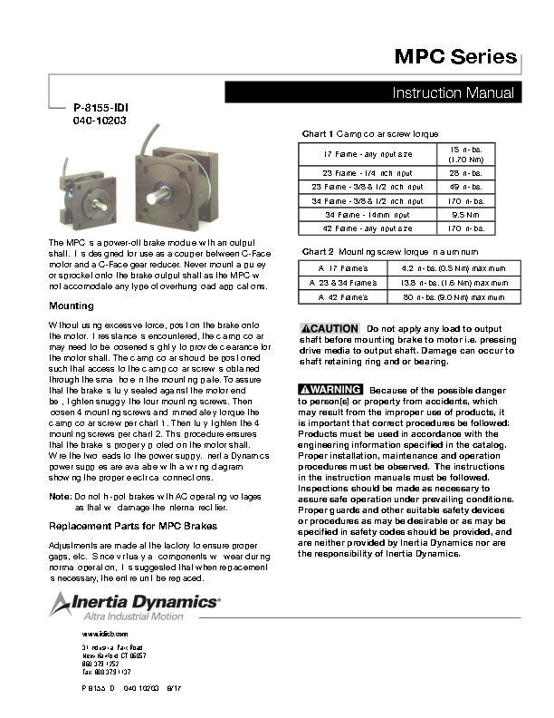 MPC Series Instruction Manual 040-10203